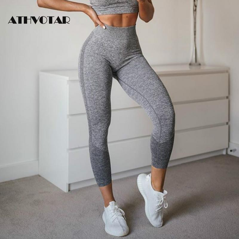 ATHVOTAR High Cintura Mujeres Elástica Skinny Push Up Push Up Leggings Fitness Fitness Jeggings Mujeres Interruptible Entrenamiento Legins 201203