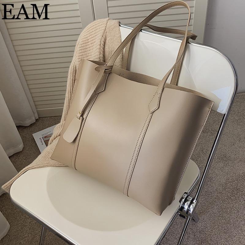 [EAM] Kleine PU-Leder-Eimer Taschen für Frauen 2020 Schulter Handtaschen und Geldbörsen Weiblichen Cross Body Trend Handtasche 8A312