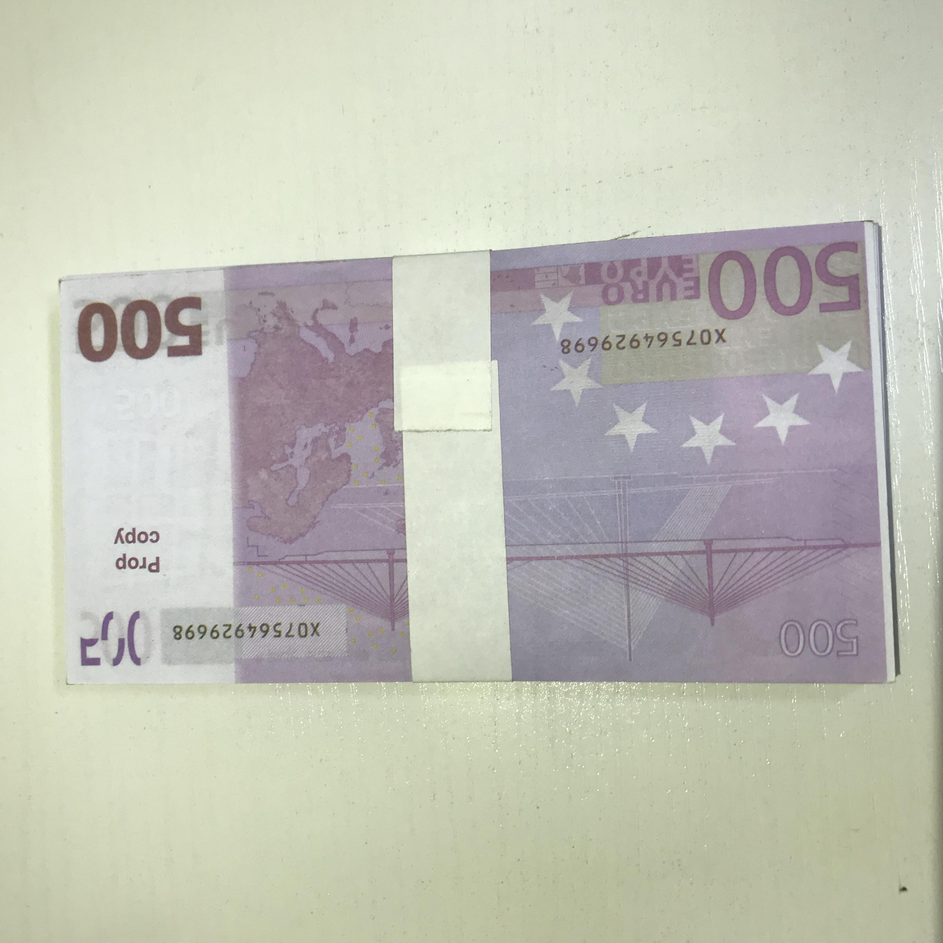 Kinder Prop 500 gefälschte Requisiten Papier Pfund Faux Spielzeug Le500-31 Billet Banknote Geschenk Neue Euro Magic Dollar-Ticket Efsiu deqkt