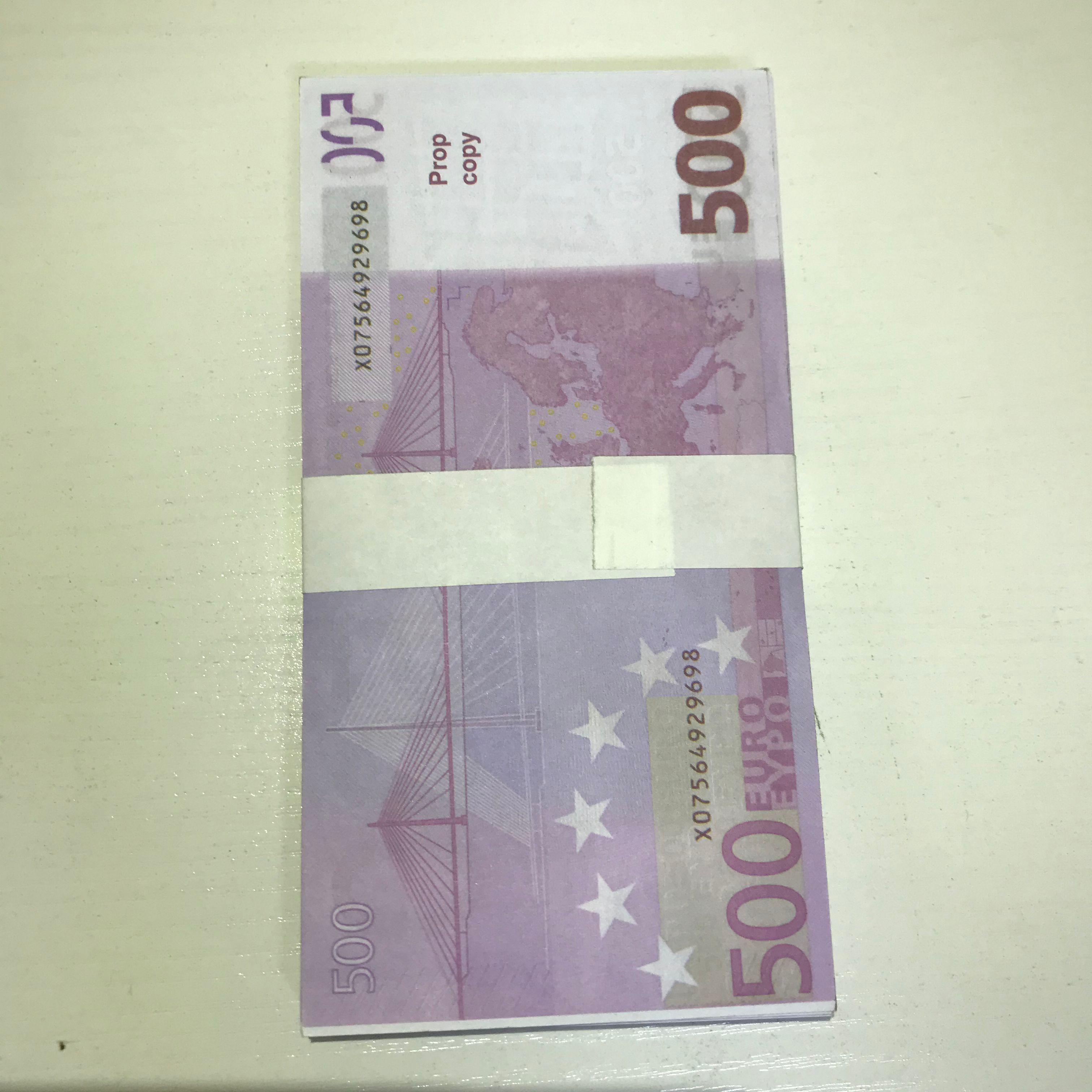 Jouet LE500-31 nouveau EFSIU PROP 500 livres FAUX MAGIC BILLETFIT Billet Billet cadeau papier cadeau dollar dollar billet de billet euro utoqh