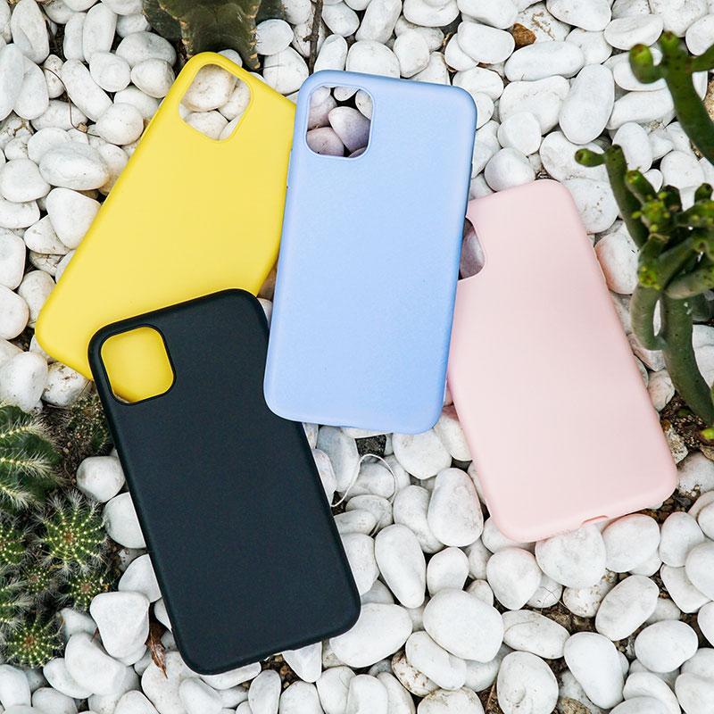 iPhone 11 PRO MAX XS XR X S 6 6S 8 7 Artı Telefon Kılıfı Silikon Yumuşak Şeker Renk TPU Kapak 7plus için
