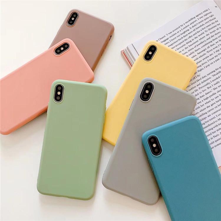 キャンディーカラーマットケースiPhone 12 11 Pro Max XS XR X 6 7 8 PLUS GALAXY S10 S20注10 A10S A71 800ピース/ロット