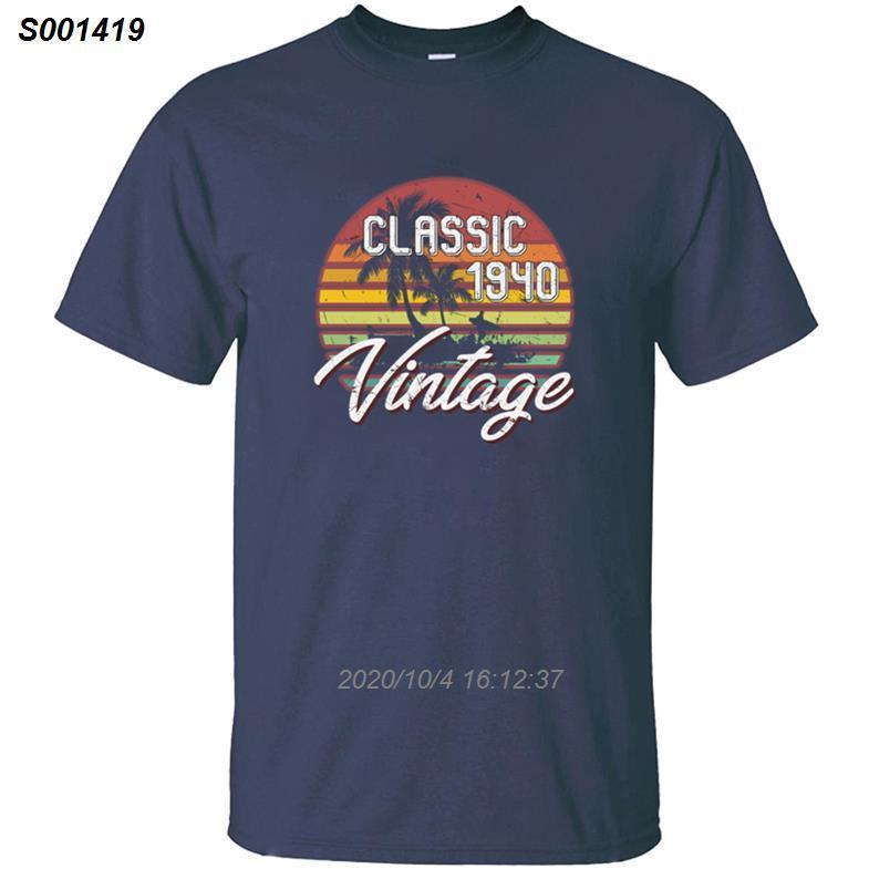 Crear regalos de cumpleaños 78.o Vintage Retro 1940 de la camiseta para las mujeres de los hombres y hombres camisetas 2019 de gran tamaño S-5XL Hiphop Top 3121410
