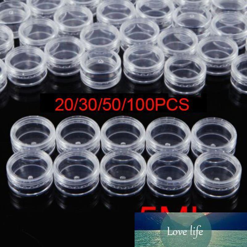 20 / 30/50 / 100pcs Mini échantillons de bouteilles de bouteilles 5ML maquillage cosmétique pot de pot en plastique conteneur de stockage de crème