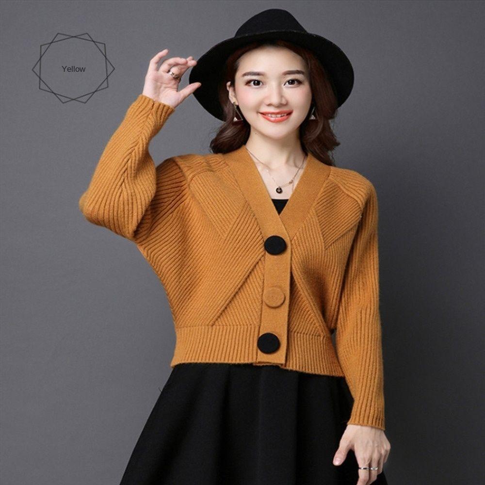 V-cuello suéter flojo sweaterwin de 6FtQP Calidad 2020 de otoño e invierno de Corea de las mujeres con cuello en V suelta Calidad 2020 otoño y las mujeres coreanas 6KiV3