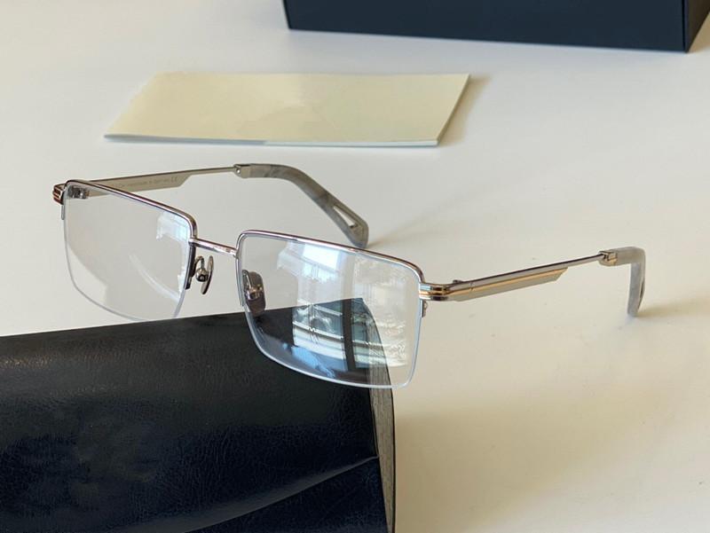 Akademik Kutu Tarzı Optik Erkekler Moda Cam Gözlük Metal Yarım Çerçeve Üst Miktarı ile Açık UV400 II Kare Ambalaj Yeni Otssl