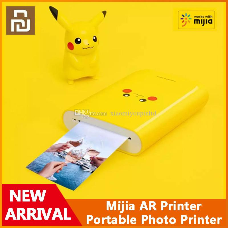 Xiaomi Youpin Mijia AR Printer 300dpi ZINK Portable Photo Printer Pikachu Version With DIY Share Bluetooth Connection Work With Mijia