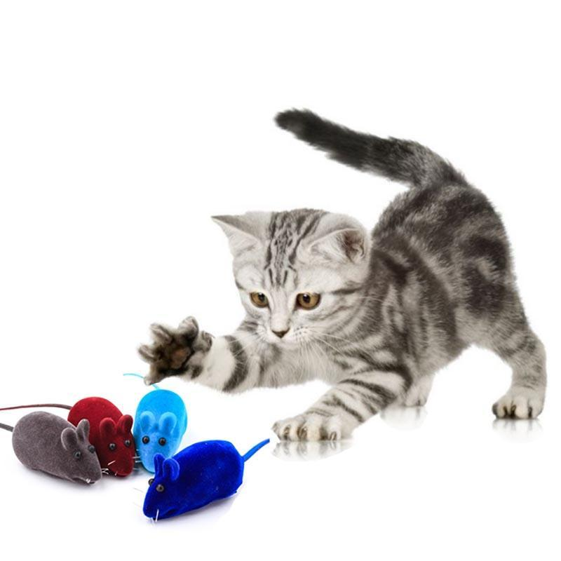 Cat Toys Small Mouse Style Pet Toy Can Make Sound To Interact With Cats Color Not Lose Medium Durable Supplies