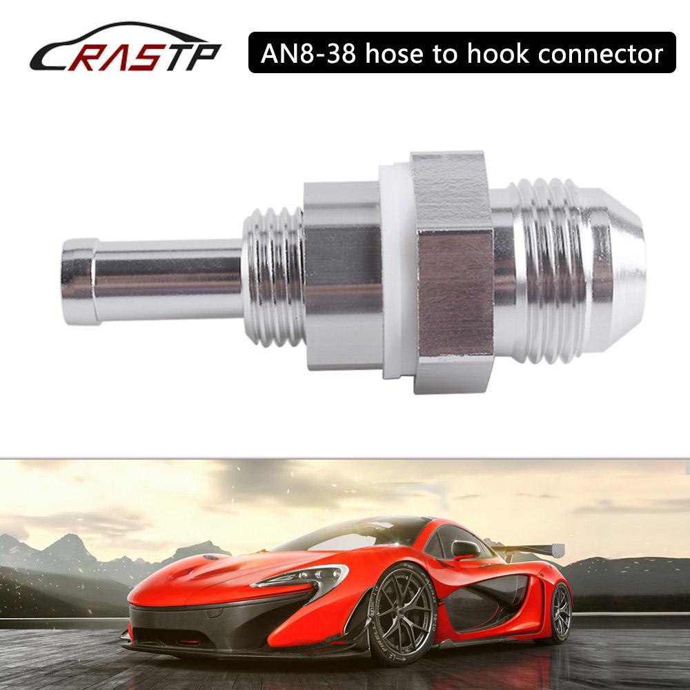 Yakıt Deposu Gümüş RS-HR014 için takılması AN8 3/8 Erkek Flare Bölme CNC Hortum Dikenli Bağlayıcı