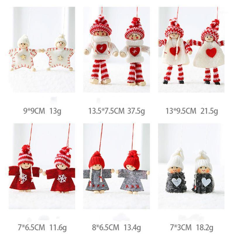 Christmas Ornament 2pc Angel Doll Christmas Decor for Home Garland Merry Kerst Decoratie 2021 New Year Xmas Gifts Noel1