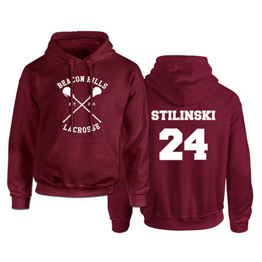 Teen Wolf Hoodie Männer Stilinski 24 Lahey McCall Pullover Male Drucken Rote Kapuzen Menshoodies-Hip Hop Hoddies Street C1011