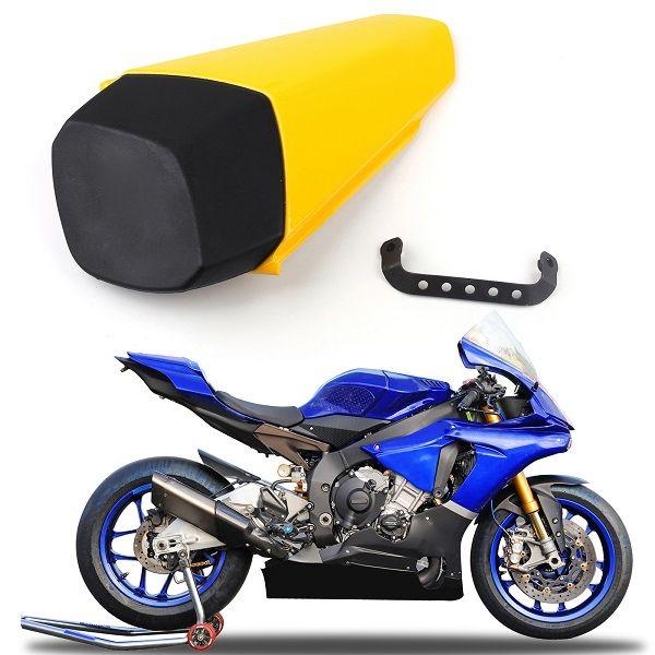 Areyourshop Motociclo Giallo plastica ABS coprisella passeggero Per Yamaha YZF-R1 2015-2018 Moto Accessori Parti