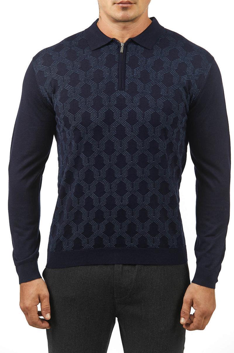 nueva moda de negocio del bordado de gran tamaño de la cremallera de alta calidad del envío 2020 del invierno de los hombres suéter de cachemira