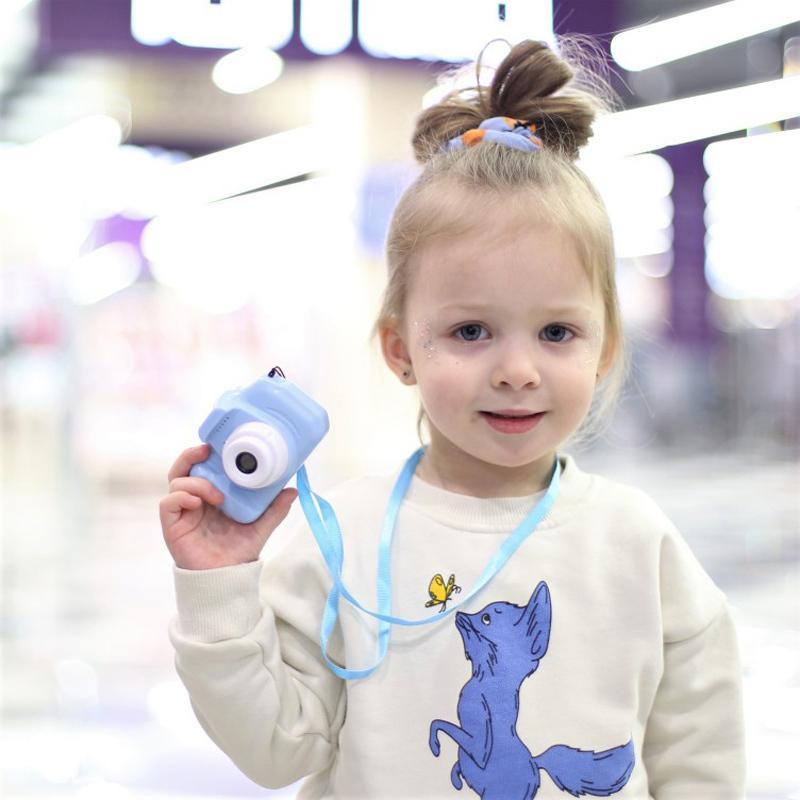 Digitalkamera 2-Zoll-Bildschirm Wiederaufladbare Lernspielzeug der Kinder für Kinder Mini-Kameras Baby-Jungen-Geburtstags-Geschenk 201004