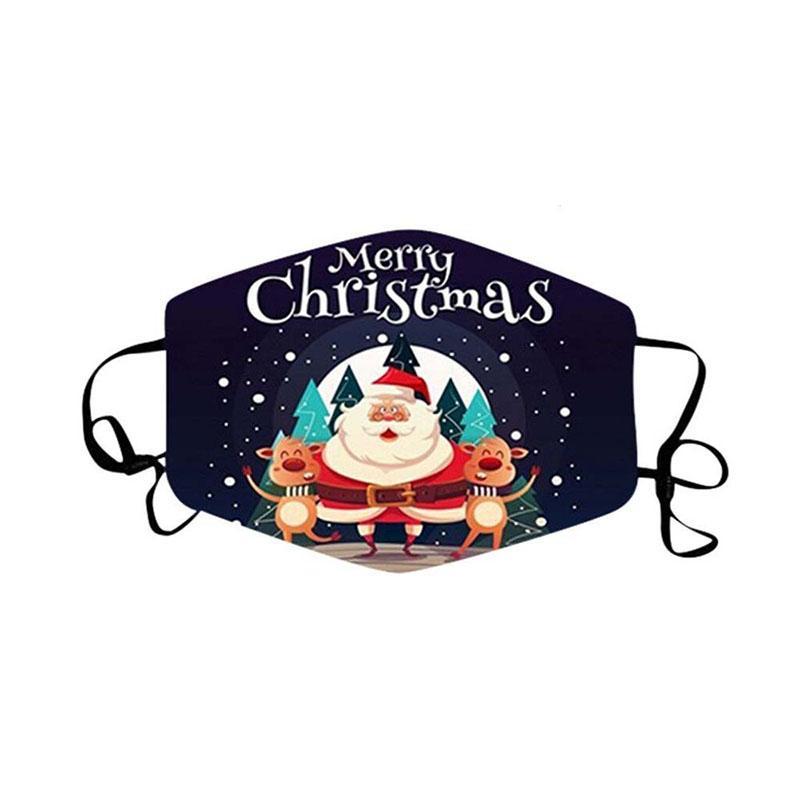 Christmas adult cotton calico mask washable cotton masks color Christmas mask cartoon face mask Party Masks fashion design facemask