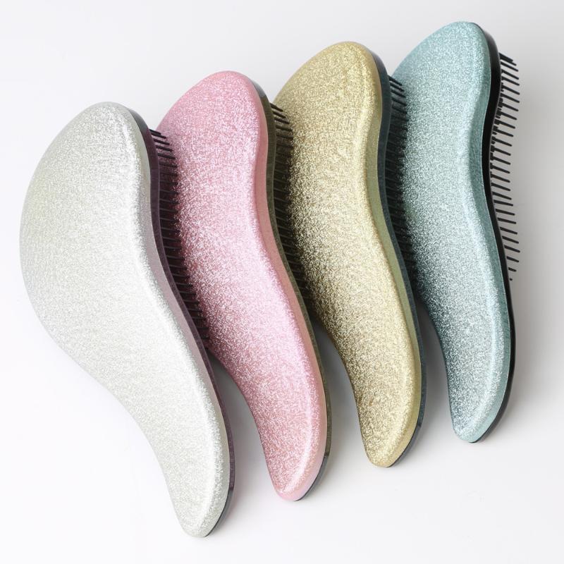 Güzellik Parlak Saç Tarak Anti-Statik Makyaj Saç Fırçası Haircare Scalp Kayıp Kuaför Styling Aracı Marka Konsept Mağazası