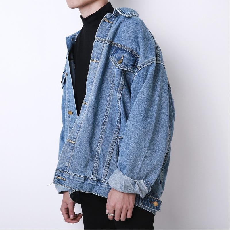 Fashion autumn and winter new Korean loose oversize denim jacket male retro coat denim men women clothing 201014