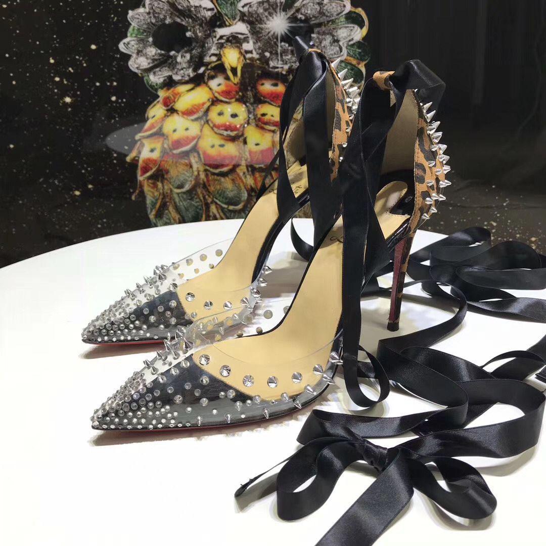 Perfecta calidad de los diseñadores atractivos de las señoras de aguja Bare cargadores de los talones de las mujeres bombea los zapatos de gran tamaño de color rojo zapatos de boda inferior del banquete de boda
