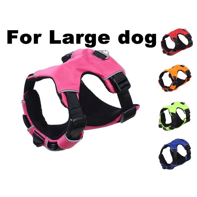 Perro del envío de gama alta acolchada para mascotas arnés del perro multifuncional Uso de liberación rápida grande grande chaleco del arnés del animal doméstico