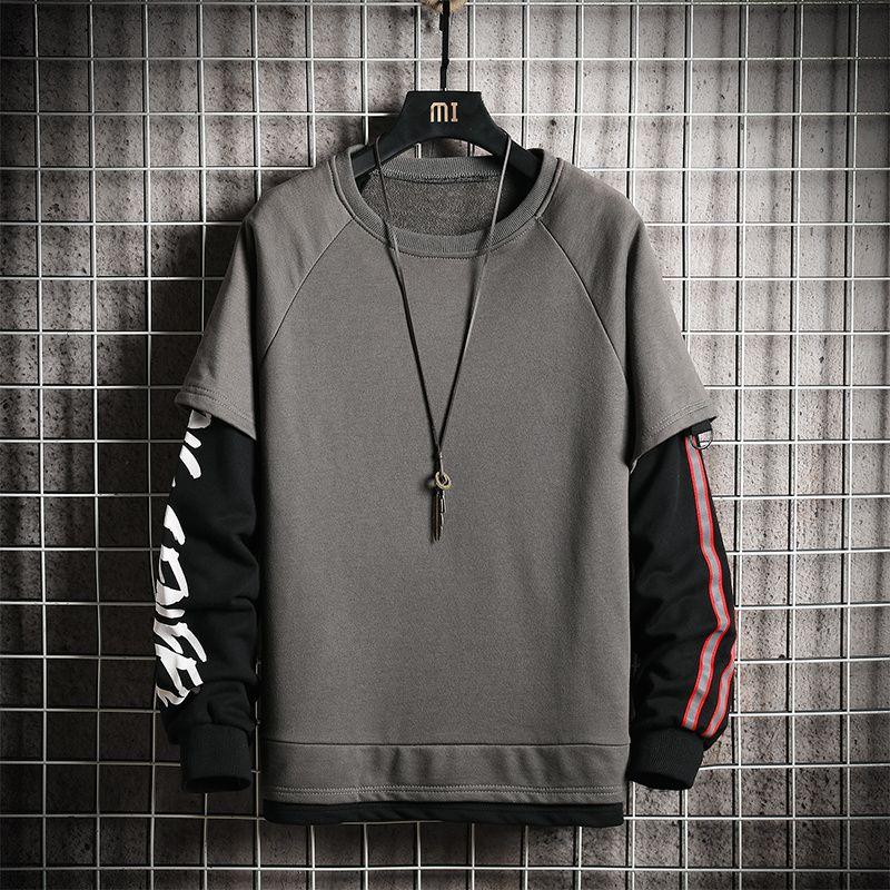 Мужчины Толстовка лоскутных Мужчины Качество Спортивной одежды плюс размера толстовки Мужской Streetwear пуловер Мужчина цвета блок