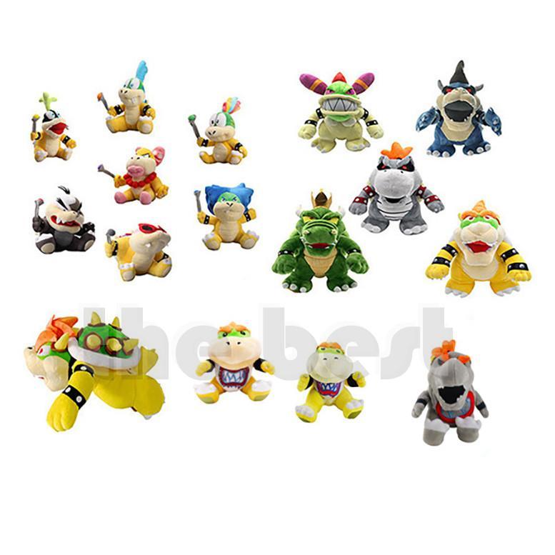더 많은 스타일의 Bowser Koopa 플러시 장난감 키즈 휴일 선물 17-30cm