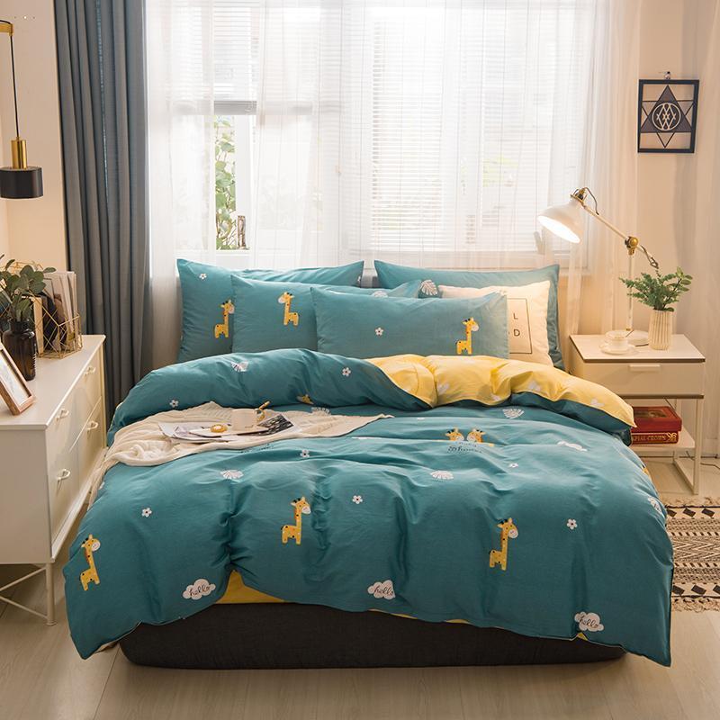 Covers CHICIEVE cama de quatro peça Inverno Folha Quilt Home Textile Colcha Duplo 100% algodão barato