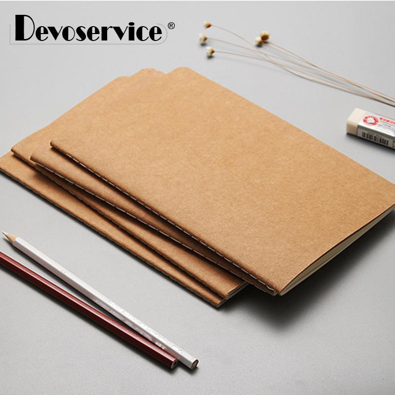 메모장 1 PC 간단한 스타일 노트북 종이 크래프트 메모장 저널 편지지 오피스 학교 용품 / 21 * 14cm