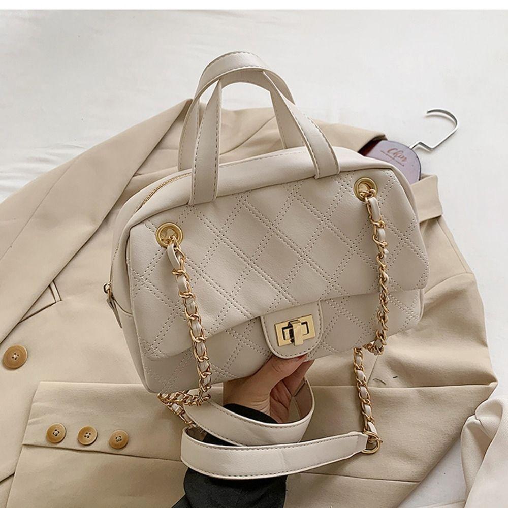 LJCis Çanta kadınlar 2020 taşınabilir moda Lingge uozk7 Tek Postacı paket postacı paket Omuz Messenger Bagforeign tarzı yeni Boston çanta
