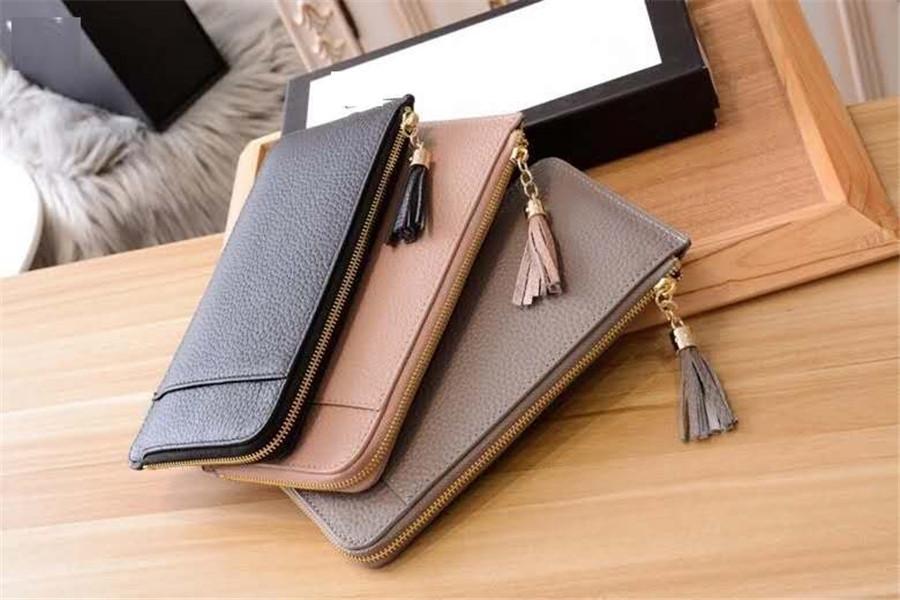 Womens Designer Brieftaschen Karteninhaber Top Qualität Frauen Brieftaschen Telefon Organisieren Taschen Echtes Leder Gestreifte Handytaschen HASP 21cm