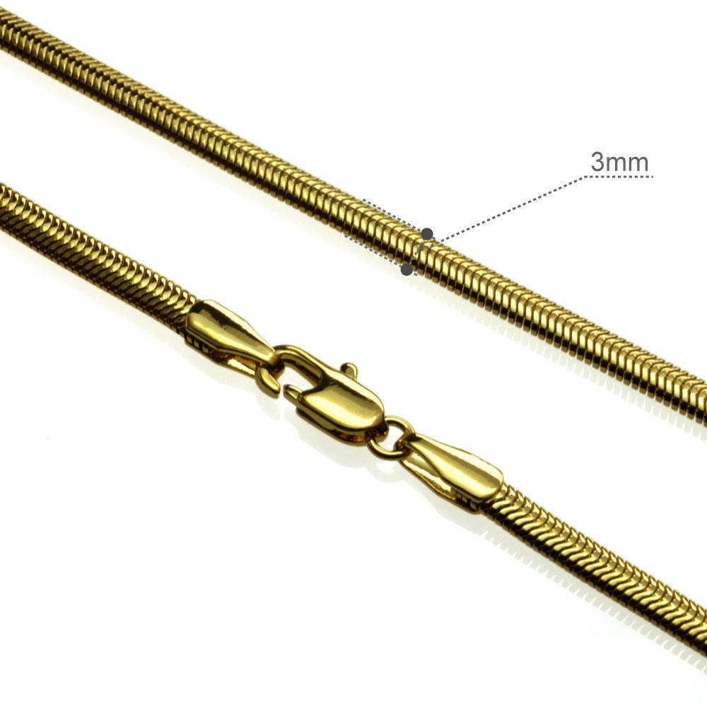 18k gelbes Gold füllte Frauen Halskette Schlange Kettenverbindungs-Schmuck Luxus n289