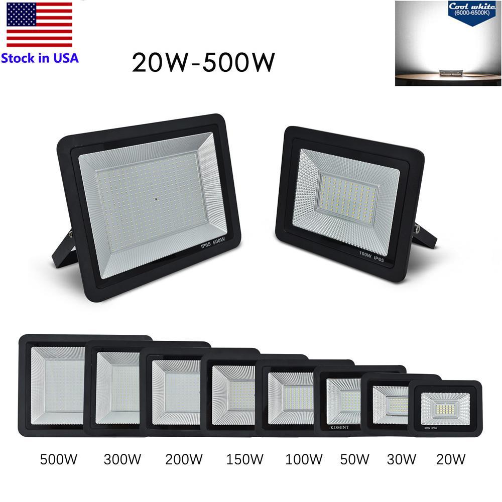 LED Projektörler 20 W 30 W 50 W 100 W 150 W 200 W 300 W 500 W Açık Sel Işıkları Peyzaj Aydınlatma IP65 Çalışma Işığı 6000K