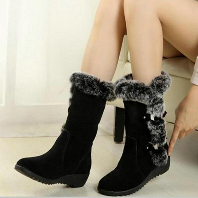 Botas para mujer 2020 Nueva llegada de invierno Botas de nieve cálidas tacones de moda tobillo para mujer zapatos mujer botas mujer