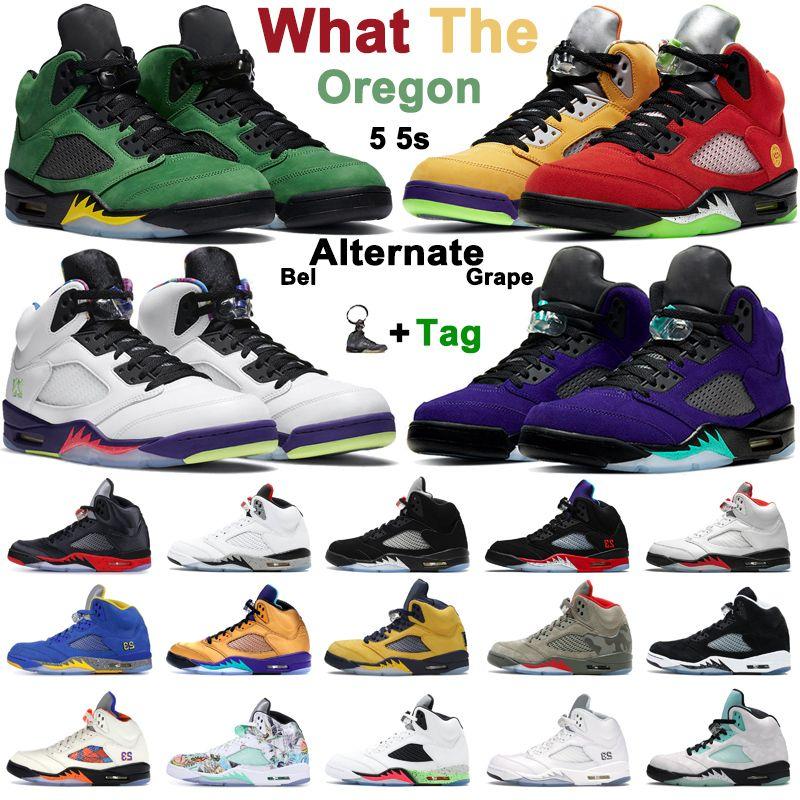 retro 5 5s zapatillas de baloncesto para hombre lo que el Alternate Bel Grape crió Fire Red Black Metallic Silver oregon zapatillas deportivas para hombre y mujer
