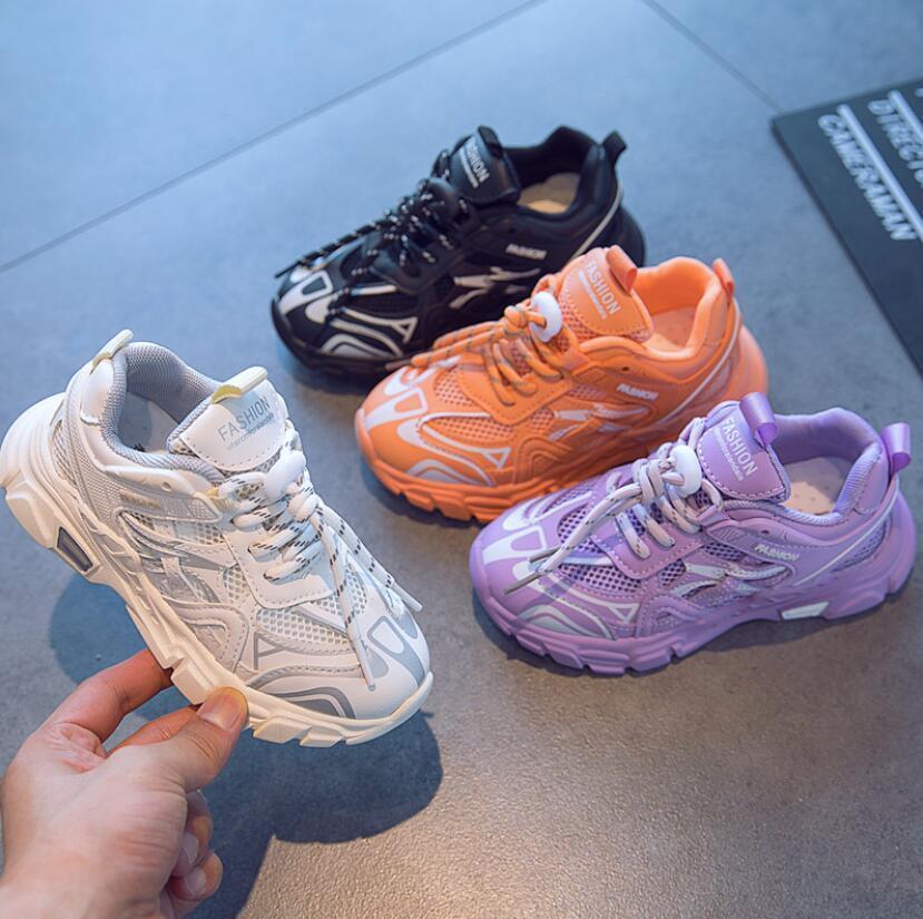 Çocuklar 2020 Bebek / Toddler / Küçük Bahar Sneakers Erkek Kız Moda Deri Eğitmenler Çocuk Okul Spor Yumuşak Koşu Ayakkabıları