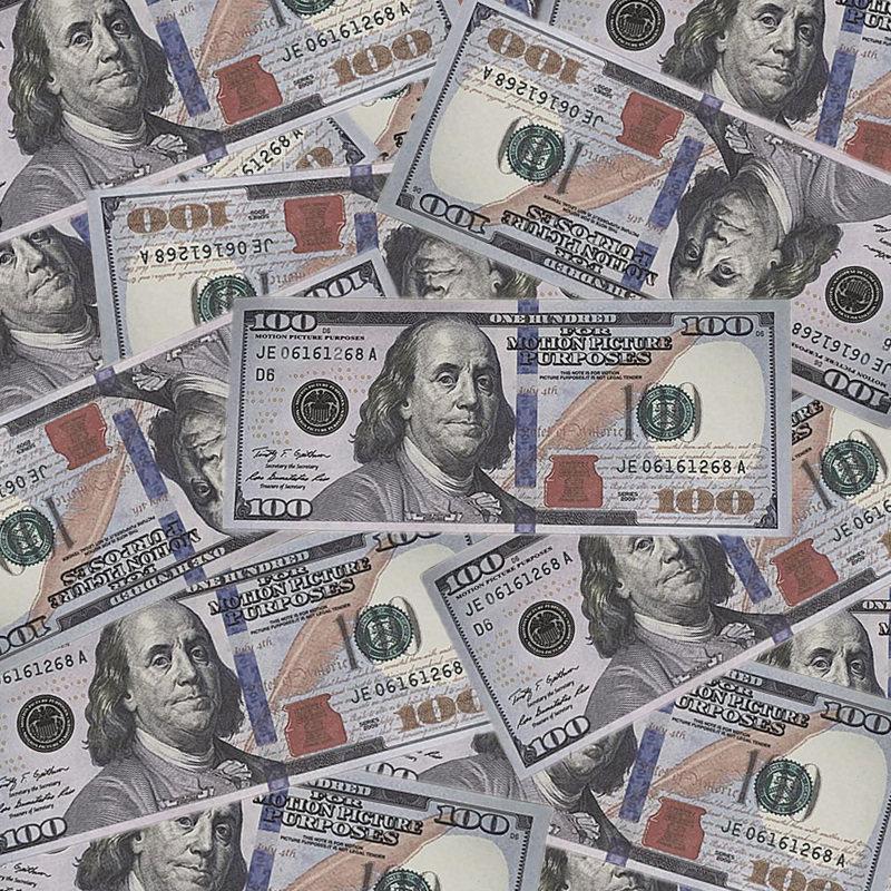 100 copie di 100 copie di banconote euro e dollari US Dollari Shooting Puntelli Magic Show Children Toys Party Games 21