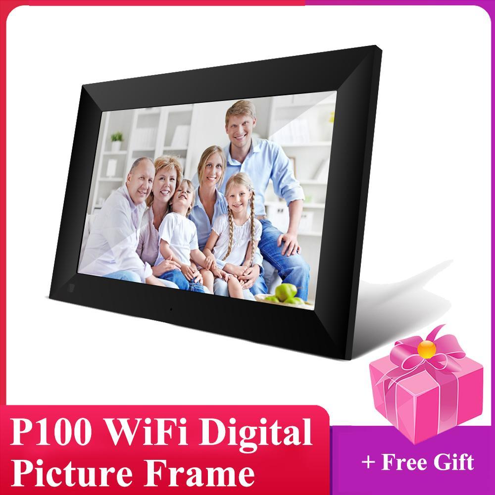 P100 WiFi 10.1 Inch Digital Picture 1280 x 800 schermo IPS touch 16GB di Smart Photo Frame di controllo APP Con staccabile Holder Q1107