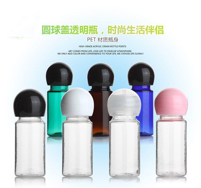 Botellas / Perfume de viaje Muestra Loción 10ml Botella / Cosmética Pequeña tapa Botella de plástico Botella de plástico / Paquete de bolas 6pcs Subpackage THCRC