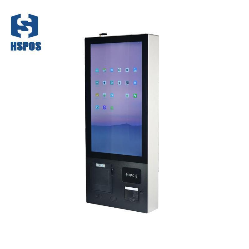 Terminal de auto-atendimento parede vertical da tela LED de toque de 21,5 polegadas para restaurante com sistema HS-W215