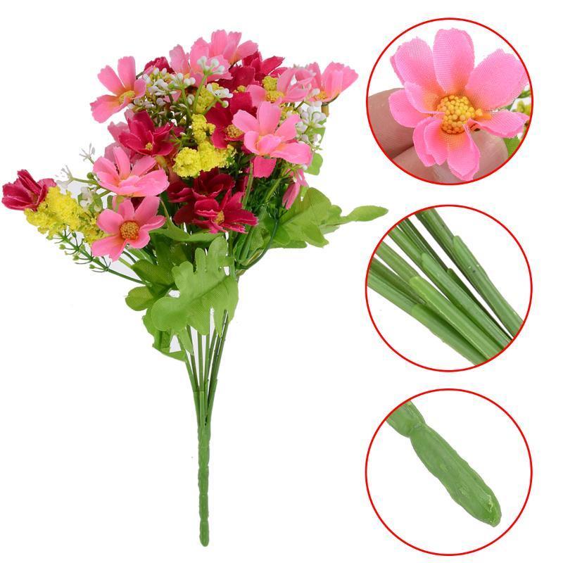 1 Букет 28 Головки Артефический Цветок Шелковый Хризантема Цветочный букет FIY Главная Свадьба Декор