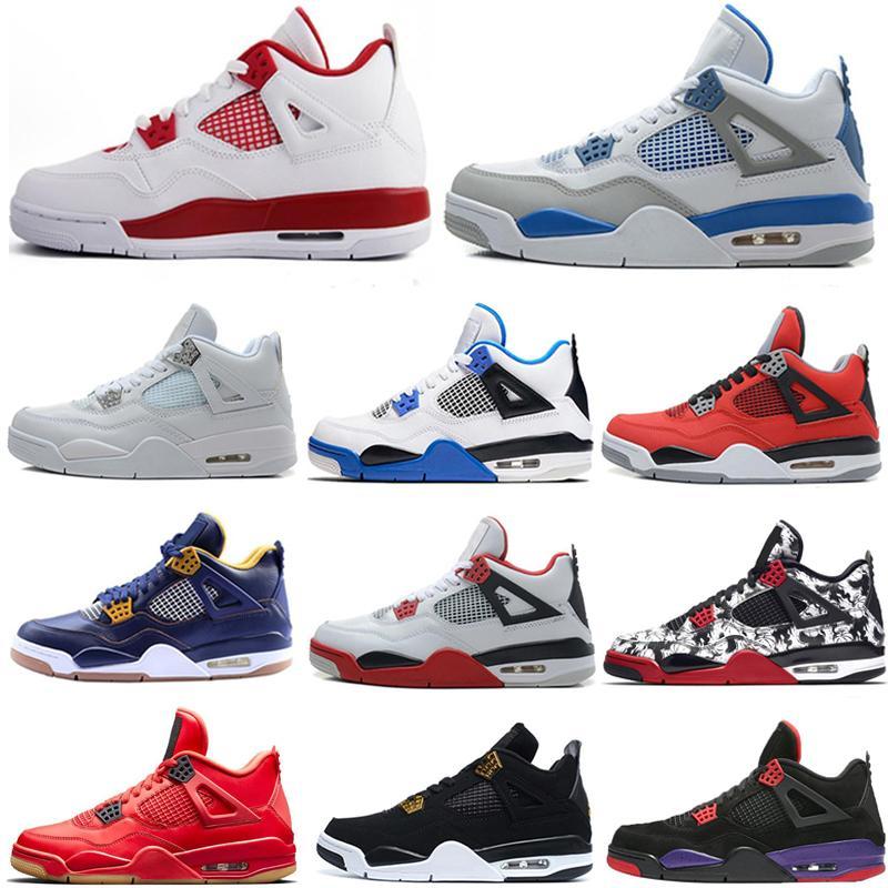 2020 4S Juntas Hombres Botas Zapatos Sail Neon Luz Beige Púrpura Zapatillas Púrpuras IV Gato Negro Cría Cría Feliz Gris Faithful Sneakers