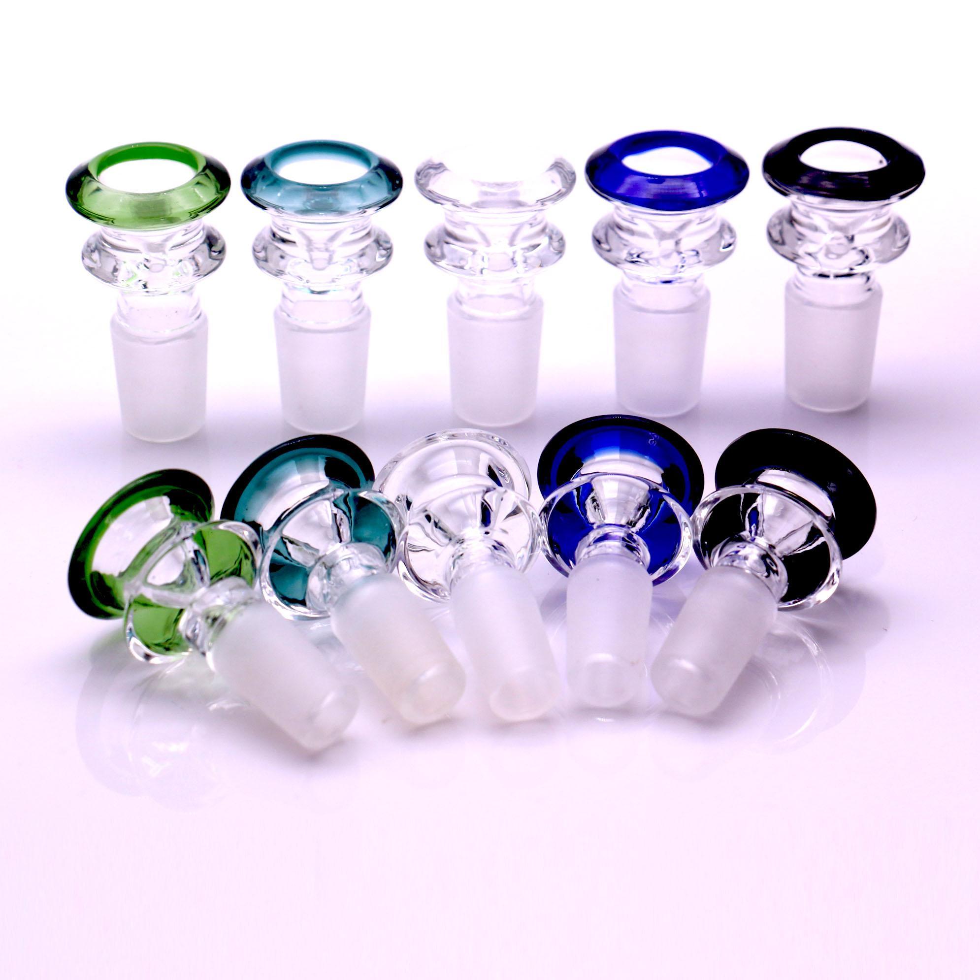 물 담뱃대 14mm 18mm 유리 그릇 믹스 컬러 봉 그릇 남성 조각 물 파이프 DAB 장비 흡연 액세스 리오