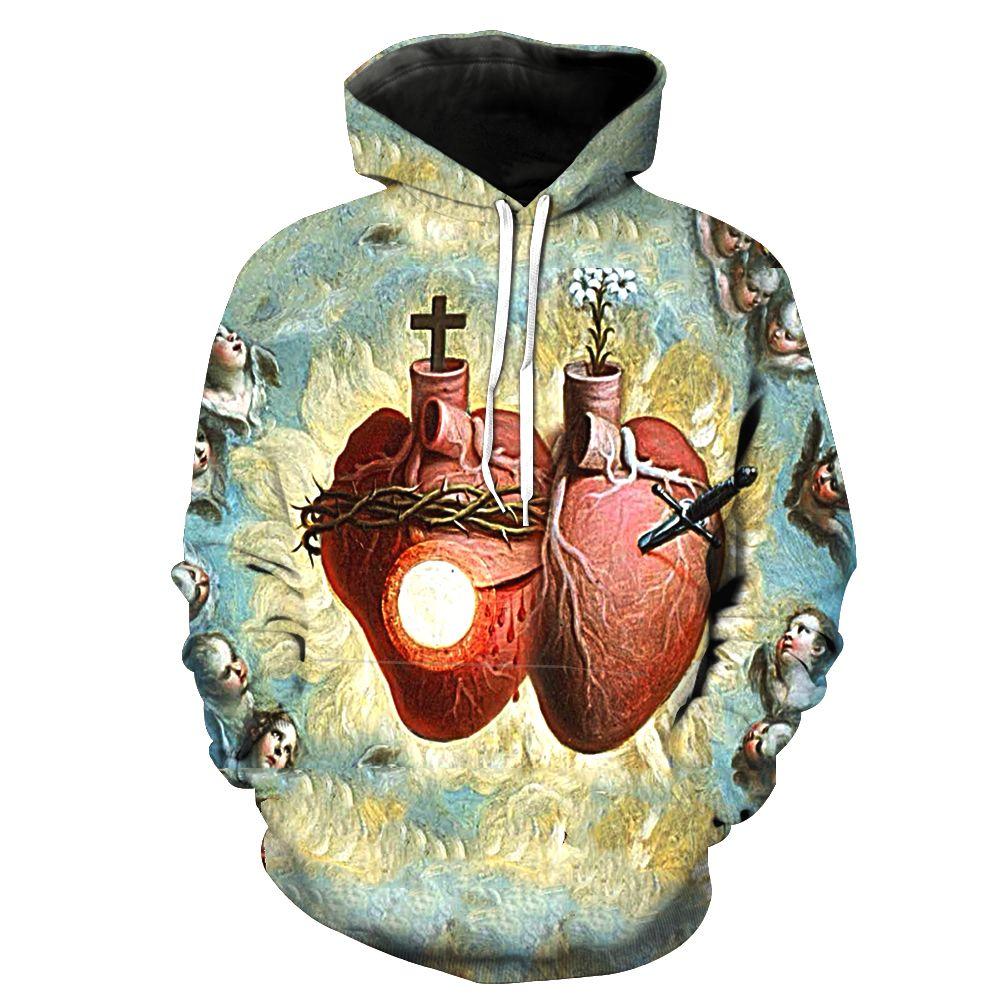 2019 New Fashion Sweatshirt Men / Women 3d Print God Unisex Slim Stylish Hooded Hoodies