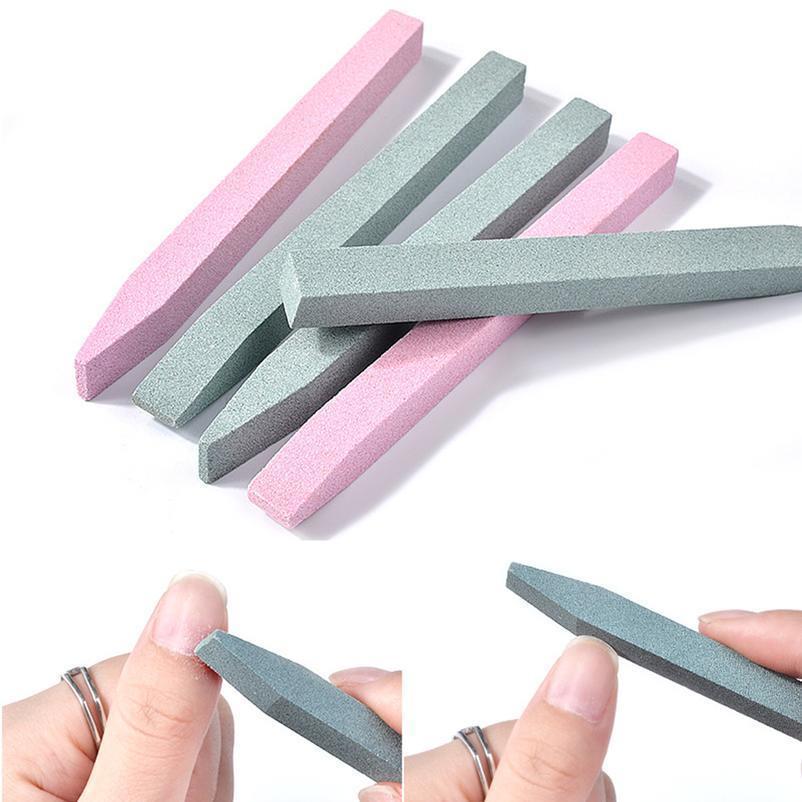 2 STÜCKE Quarz Scrub Nagel File Cuticle Remove Stick Nail art Schleifstein Peeling Carving Pusher Maniküre C Qyljwg