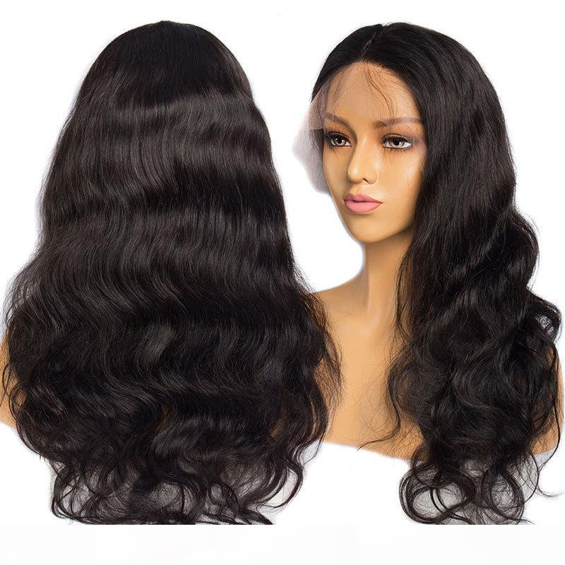 10A Brésilien Humain Hair Brésilien 13 * 4 Vague corporelle 360 Dentelle Perruque frontale 150% Densité Dentelle Perruques de cheveux humains
