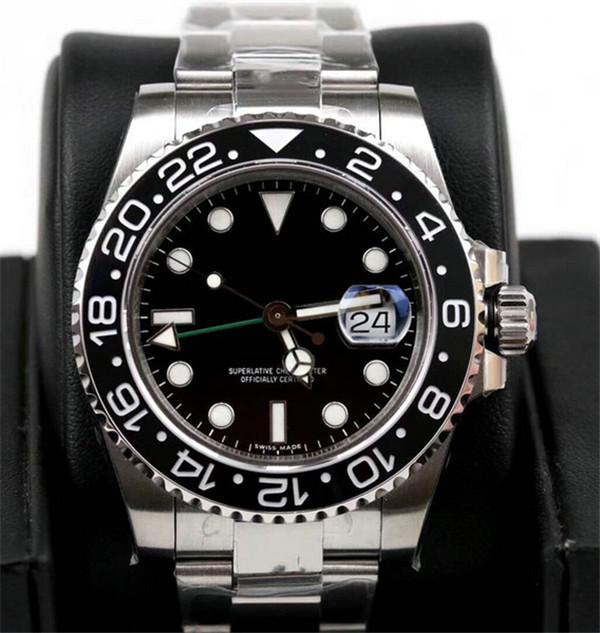 4 Typen 2 Sapphire Mechanische Herrenwerk MOUNT GMT Black Dial Automatic 116710 Keramik 3866 Jubiläumsmeister Watch Armbanduhren VDWBH