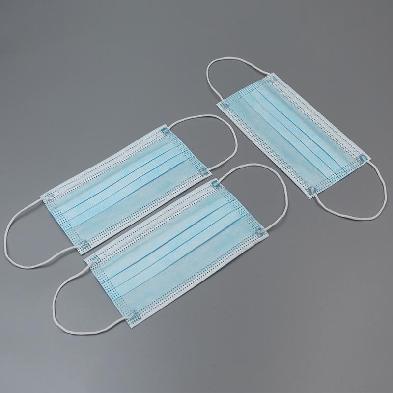 Livraison Gratuite Ear oreille avec boucle anti-pollution Masque US Air Masques jetables Deux jetables 3 Blocage élastique à la face de plis pour 225 respirant 3-7 Nert