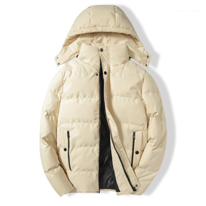 Size Zipper Button Hooded Coats Designer Male Winter New Loose Solid Color Outerwear Men Thicken Down Jackets Fashion Trend Long Sleeve Plus