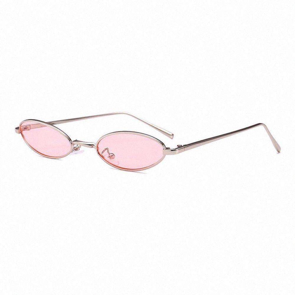 2018 neue Sommer Trendy DesignSunglasses Frauen Männer Kleine Oval Mode Unisex Metallrahmen UV-Schutzbrille Brille culos de nMaf #