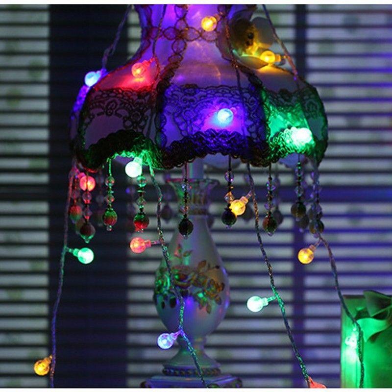 Adornos al aire libre solar Iluminación Árbol de Navidad Decoraciones de Navidad 30LED Iluminación de cadena Jardín Decoración de fiesta de fiesta de fiesta de cristal Venta caliente 2