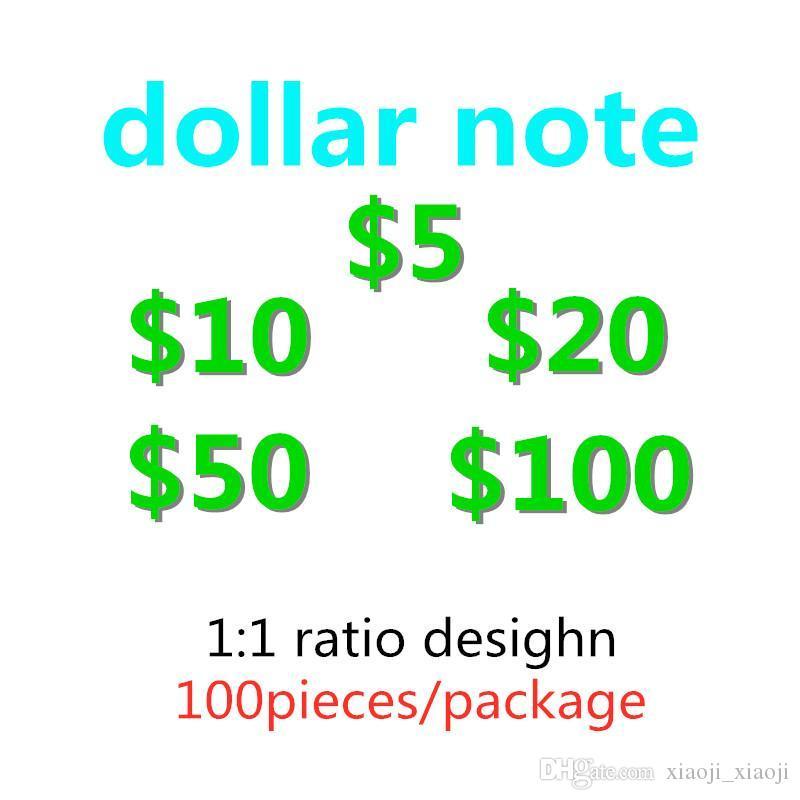 USA USD am meisten gefälschte Prop-Geld-Dollar-Banknotes-Film-Kinder-Kinder-Erwachsene Sonderstützpunkte Spiel Fake Geld Realistisches Spielzeug Spiel Geld-N Ilxbi